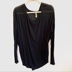 Francesca's • black long loose long sleeve shirt
